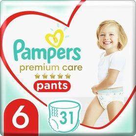 Pampers Premium Care Pieluchomajtki, Rozmiar6, 31Sztuk, 15kg+