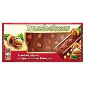 Nussbeisser Czekolada mleczna z całymi orzechami laskowymi 100 g