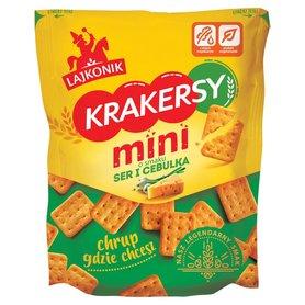 Lajkonik Krakersy mini o smaku ser i cebulka 100 g