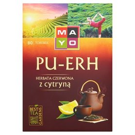 Mayo Pu-Erh Herbata czerwona z cytryną 120 g (80 torebek)