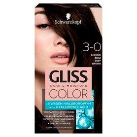 Schwarzkopf Gliss Color Farba do włosów głęboki brąz 3-0