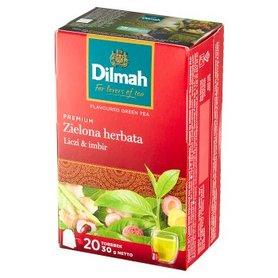 Dilmah Premium Zielona herbata liczi & imbir 30 g (20 x 1,5 g)