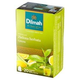 Dilmah Premium Zielona herbata cytryna 30 g (20 x 1,5 g)
