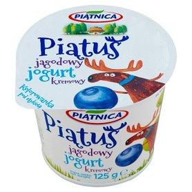 Piątnica Piątuś Jogurt kremowy jagodowy 125 g