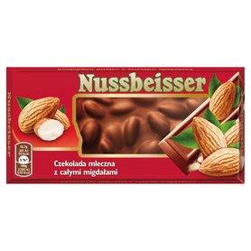 Nussbeisser Czekolada mleczna z całymi migdałami 100 g