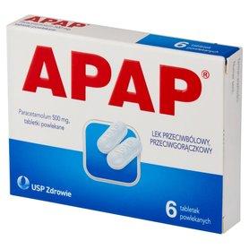 Apap Lek przeciwbólowy przeciwgorączkowy 6 sztuk