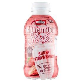 Müller Müllermilch Shake Napój mleczny o smaku truskawkowym 400 g