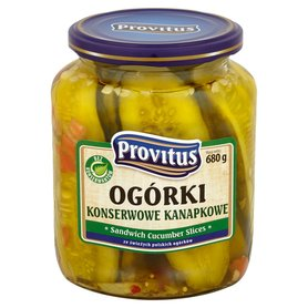 Provitus Ogórki konserwowe kanapkowe 680 g