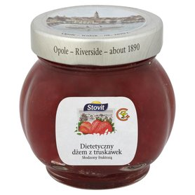 Stovit Dietetyczny dżem z truskawek słodzony fruktozą premium 240 g