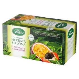 Bifix Ekspresowa herbata zielona z guaraną i marakują 40 g (20 x 2 g)