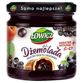 Łowicz Dżemolada Owocowy krem do smarowania czarny 200 g