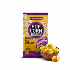 NaturAvena Popcorn maślany z solą himalajską do mikrofali 90 g Bio