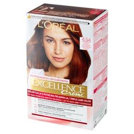 L'Oréal Paris Excellence Farba do włosów brąz mahoniowo-miedziany 4.54