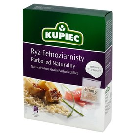 Kupiec Ryż pełnoziarnisty parboiled naturalny 400 g (4 torebki)