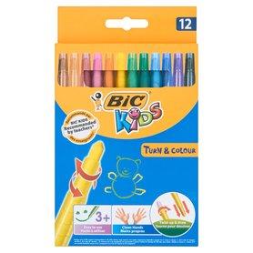 Bic Kids Turn and Colour Kredki świecowe wysuwane 12 kolorów