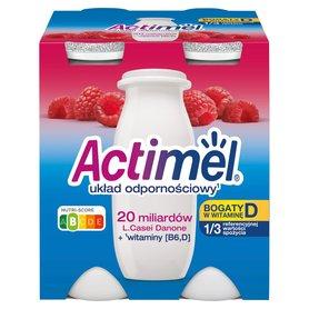 Actimel Mleko fermentowane o smaku malinowym 400 g (4 x 100 g)