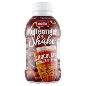 Müller Müllermilch Shake Napój mleczny o smaku czekoladowo-ciasteczkowym 400 g