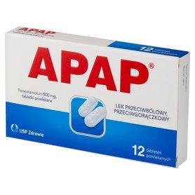 Apap Lek przeciwbólowy przeciwgorączkowy 12 sztuk