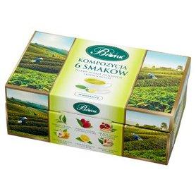 Bifix Zestaw herbat zielonych ekspresowych kompozycja 6 smaków 120 g (60 x 2 g)