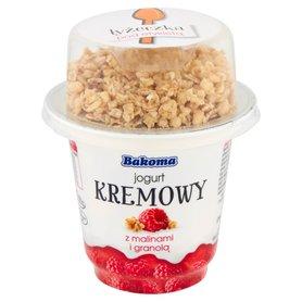 Bakoma Jogurt kremowy z malinami i granolą 230 g
