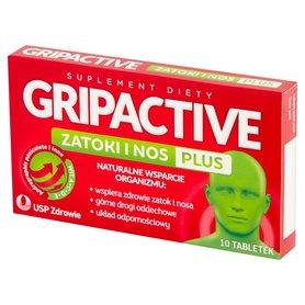Gripactive Suplement diety zatoki i nos plus 10 sztuk