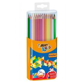 Bic kids kredki ołówkowe 24 kolory bezdrzewne w pudełku