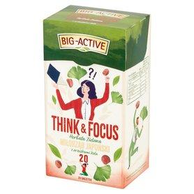 Big-Active Think & Focus Herbata zielona miłorząb japoński z orzeszkami kola 30 g (20 x 1,5 g)