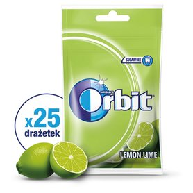 Orbit Lemon Lime Guma do żucia bez cukru 35 g (25 sztuk)