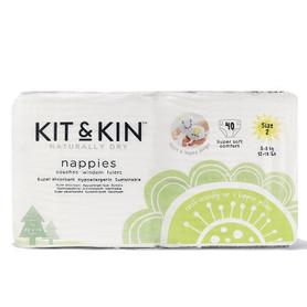 Kit and Kin, Biodegradowalne Pieluszki Jednorazowe midi 2 40szt