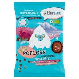 Bluecorn Bio Popcorn prażony na powietrzu z niebieskiej kukurydzy z olejem kokosowym virgin 50 g