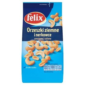 Felix Orzeszki ziemne i nerkowce smażone i solone 240 g