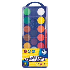 Astra Farby akwarelowe 18 kolorów