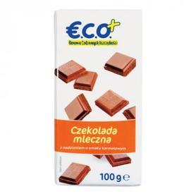 €.C.O.+ czekolada mleczna z nadzieniem o smaku  karmelowym 100g