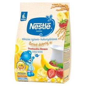Nestlé Kaszka dzień dobry mleczna ryżowo-kukurydziana truskawka banan po 6. miesiącu 230 g