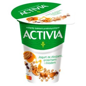 Activia Jogurt ze zbożami orzechami i miodem 165 g