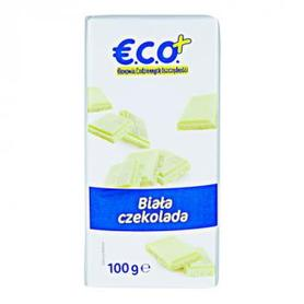 €.C.O.+  biała czekolada 100g