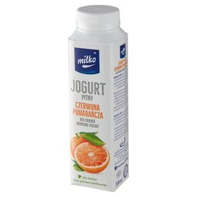 Milko Jogurt pitny czerwona pomarańcza 330 ml