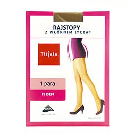 Tissaia  Rajstopy beż 15den M
