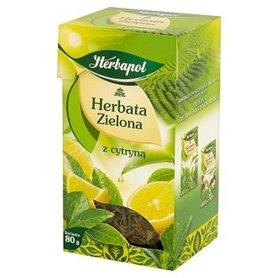 Herbapol Herbata zielona z cytryną liściasta 80 g