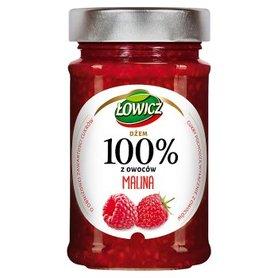 Łowicz Dżem 100% z owoców malina 220 g