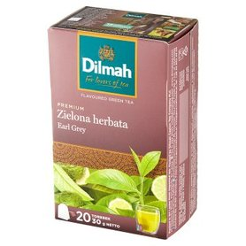 Dilmah Premium Zielona herbata Earl Grey 30 g (20 x 1,5 g)