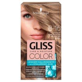 Schwarzkopf Gliss Color Farba do włosów naturalny popielaty blond 8-16