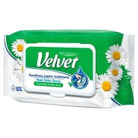 Velvet Camomile & Aloe Vera Nawilżany papier toaletowy 42 sztuki