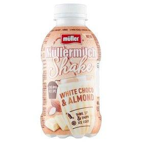 Müller Müllermilch Shake Napój mleczny o smaku białej czekolady i migdałów 400 g