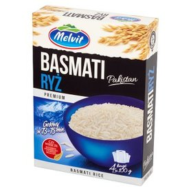 Melvit Premium Ryż Basmati Pakistan 400 g (4 torebki)