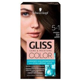 Schwarzkopf Gliss Color Farba do włosów chłodny brąz 5-1
