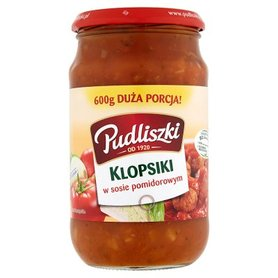 Pudliszki Klopsiki w sosie pomidorowym 600 g
