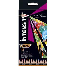 Bic Kredki ołówkowe Intensity Premium w pudełku 12 kolorów