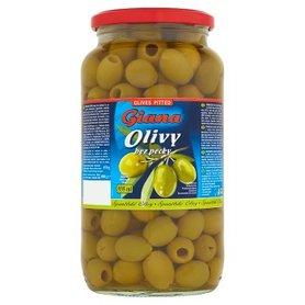 Giana Hiszpańskie oliwki zielone bez pestki w lekko słonej zalewie 880 g