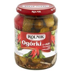 Rolnik Ogórki z chili 650 g
